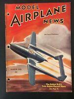 Vtg Model Airplane News Magazine  March 1939  airplane plans diagrams