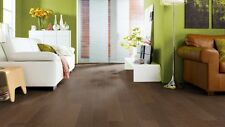 HARO Parkett Strip Prestige Oak Dark Brown Engineered Wood Flooring Sample