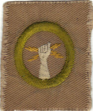 BOY SCOUT ELECTRICITY #3 SQUARE TEENS MERIT BADGE (TYPE AA) LARGE BSA SEAL