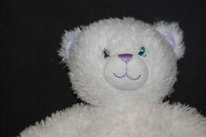 "White Purple Sparkle Hannah Montana 16"" Plush Stuffed Animal Build a Bear BABW"