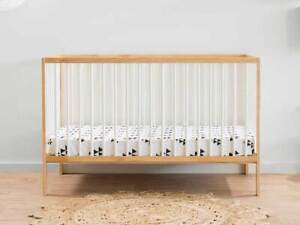 Darby Cot - Natural/White | Nursery Furniture Cots