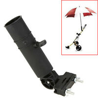 Adjustable Black Golf Umbrella Holder Stand For Buggy Cart Baby Pram Wheelchair/