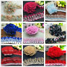 Hot 1/3/5 yards Organza Lace Gathered Pleated Sequined Trim 40mm 45mm 50mm 55mm