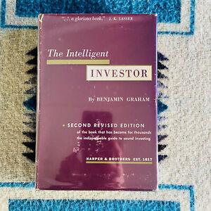 Intelligent Investor Benjamin Graham 2nd Revised Ed Harper & Brothers 1959 HC/DJ