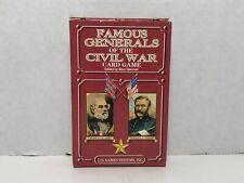 Civil War Series Card Game: Famous Generals of Civil War Educational History