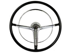 "1955-1956 Bel Air / Chevy Full Size 16"" Restomod Steering Wheel Kit"