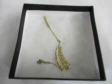 ASOS Gold Coloured Feather Hand Harness Costume Jewellery in Presentation box