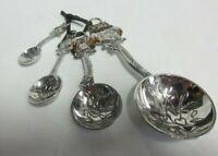 GANZ 4PC  Metal MEASURING SPOON SET - OWLS design