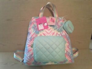 Betsey Johnson Tie Dye Backpack & Coin Purse Large New w/Tags Fast Shipping!