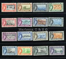 BAHAMAS 1954 SG 201-216 SC 158-173 OG MLH * RARE, COMPLETE SET 16 STAMP