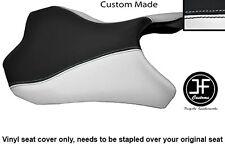 WHITE & BLACK VINYL CUSTOM FOR KAWASAKI Z1000 10-13 FRONT RIDER SEAT COVER ONLY