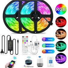 5M-30M LED Strip RGB Leiste Streifen 5050 SMD Band Wasserdicht Lichterkette 12V