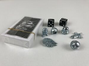 Monopoly STAR WARS 40th Anniversary Metal Game Pieces Pewter Tokens Figures Dice