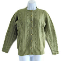 Vintage Green Wool Cardigan Sweater Sm Shetland Scotland Cairngorm