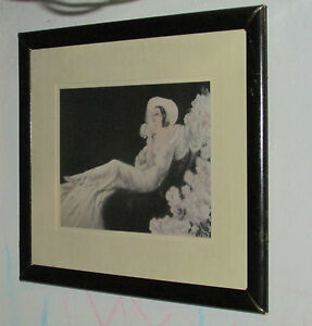 """Louis Icart """"Love's Blossom"""" 1937 Etching ~ Professionally Framed  33.5"""" x 27.5"""""""