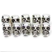 10 Tibet Silver Antique Steampunk Skull Spacer Bead DIY JEWELRY CRAFT FINGDINGS