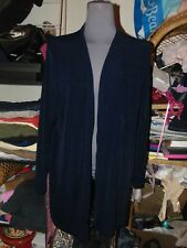 CHICO'S PRIVATE EDITION 4 BLACK CARDIGAN 1X Long & Silky Top LONG SLEEVE Open