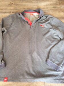 Mens Puma Long Sleeve Polo Shirt Size XL. Very Good Condition