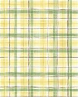 Yellow & Green Plaid with a Touch of Red Wallpaper MK25370