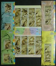 Korea Süd 2009 Vögel Gemälde Birds Paintings Kunst 2712-9 KB Block 741-44 MNH
