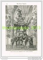 PULPIT, CHURCH OF ST GUDULE, BRUSSELS, BELGIUM, Book Illustration c1895