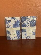 2 pottery barn Marianna Reversible King Shams Blue and white palette cotton