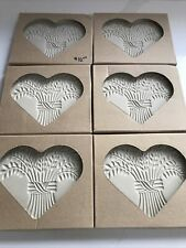 The Pampered Chef Bountiful Heart Stoneware Mold #2933 Lot Of 6 New In Box
