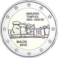 Malta 2 Euro 2018 Mnajdra Tempel Prähistorische Stätten mit Mzz F in Münzkapsel