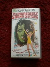Incredibly Strange Creatures.....RARE Cult Horror VHS