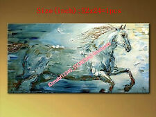 """NO Frame 52*24""""Hand painted Oil Canvas Wall Art home Abstract HORSE YH833B"""