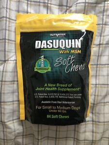 Nutramax Dasuquin 84 Soft Chews With MSM SM/MED Dogs Joint Health Supp Exp 2022