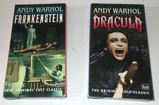 ANDY WARHOL FRANKENSTEIN & DRACULA VHS MONSTER MOVIE LOT Udo Kier CULT Triboro
