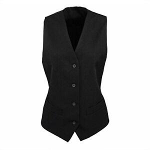 Femmes Noir Doublé Polyester Hospitalité Gilet Débardeur