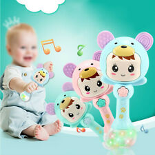 Infant Kid Baby Cartoon Musical Rattle Teether Stick Early Learning Toys #NZ