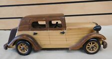 Vintage Hand Carved Wooden Toy CAR Multi Toned Wood Colors - Nice! (TH815)