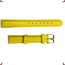 Men Women Genuine Leather Watch Strap Wrist Band Black Brown 12mm/16mm/18mm/20mm