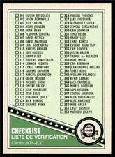 2019-20 UD OPC O-Pee-Chee Retro Base #400 Checklist