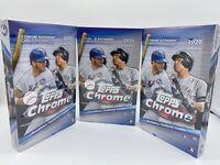 Lot of 3 - 2020 Topps Chrome Baseball Factory Sealed Hobby Box - Ships Today