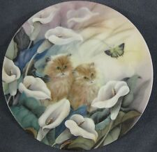 Alluring Lillies Petal Pals Collector Plate Lily Chang Kittens Flowers WS George