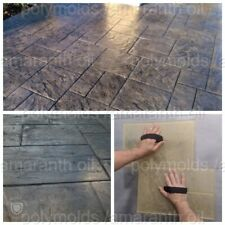 Polyurethane stamp rubber mat sidewalk concrete texture Walkway Old City №1