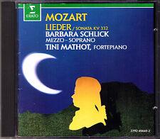 Barbara SCHLICK & Tini MATHOT: MOZART Lieder Das Veilchen Piano Sonata K.332 CD