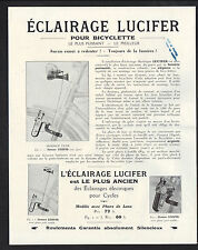 "BELLEGARDE (01) ECLAIRAGE ""RADIOS / LUCIFER"" PHARES & AMPOULES pour BICYCLETTES"