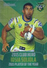 2016 NRL Traders Club Heroes (CH3/32) Iosia SOLIOLA Raiders