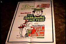 IMMORAL MR TEAS / WILD GALS OF NAKED WEST COMBO ORIG MOVIE POSTER '65 RUSS MEYER