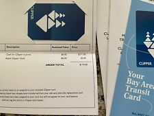 $171 Clipper Card SF Bay Area Transit System Travel (BART, VTA, Muni, Caltrain)