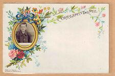 Carte Photo vintage card RPPC portrait garçon souvenir d'école écolier pz0340