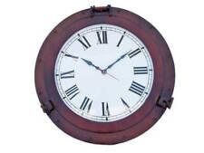 "Antique Copper Deluxe Class Porthole Clock 20"" - Nautical Clock - Porthole decor"
