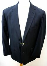 "YVES SAINT LAURENT Men's Blue Wool Single Breasted Blazer Jacket Chest 42"""