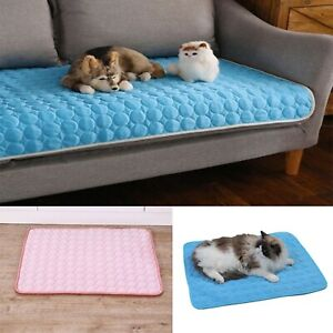 Dog Cooling Mat Pet Chilly Non-toxic Summer Cool Bed Pad Cushion Ice Silk New