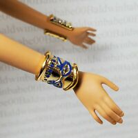 JEWELRY ~ BARBIE DOLL PRINCESS OF THE NILE EYE OF HORUS GOLD BLUE BRACELETS LOT